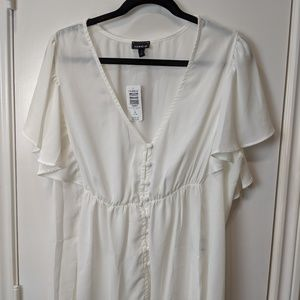 Torrid White Sheer Blouse (New) / Sz 14/16